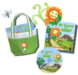 Go Green & Giggle Greenhouse Kit with Tote, Book and Song Cd