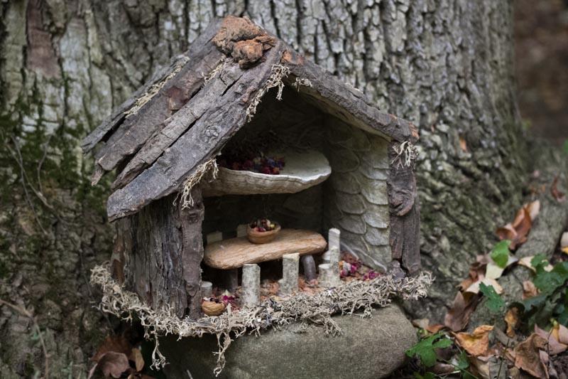 Twig fairy house