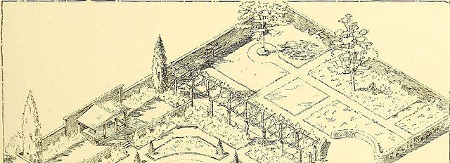 1910 garden plan